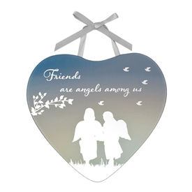 Reflections Of The Heart Plaque - Friends Are Angels