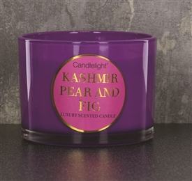 Kashmir Pear And Fig Candle In Purple Pot 11cm