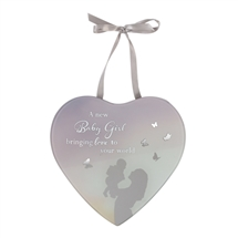 Reflections Of The Heart Mirror Plaque Baby Girl