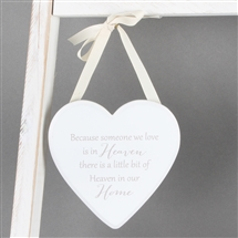 Heaven In Home Heart Plaque 12.5cm