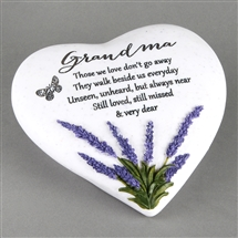 Thoughts Of You Lavender Stone Heart Grandma