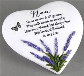Thoughts Of You Lavender Stone Heart Nan