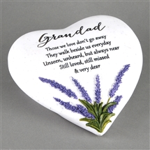 Thoughts Of You Lavender Stone Heart Grandad
