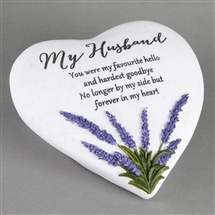 Thoughts Of You Lavender Stone Heart Husband