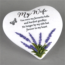 Thoughts Of You Lavender Stone Heart Wife