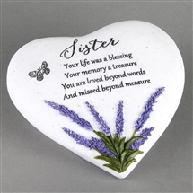 Thoughts Of You Lavender Stone Heart Sister