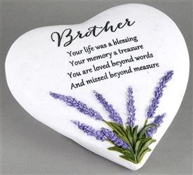 Thoughts Of You Lavender Stone Heart Brother