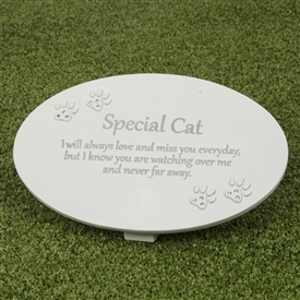 Thoughts Of You Memorial Plaque Cat