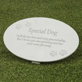 Thoughts Of You Memorial Plaque Dog