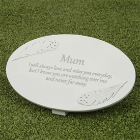 Thoughts Of You Memorial Plaque Mum