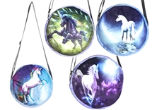 Soft Round Unicorn Bag - 4 Asst
