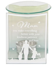 DUE MAY Mum Glass Wax Melter / Oil Burner 12cm