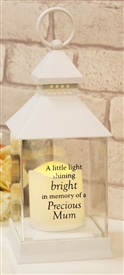 Thoughts Of You Graveside LED Lantern Mum 27cm