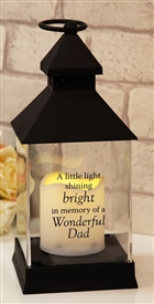 Thoughts Of You Graveside LED Lantern Dad 27cm