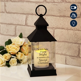 Thoughts Of You Graveside LED Lantern Grandad 27cm