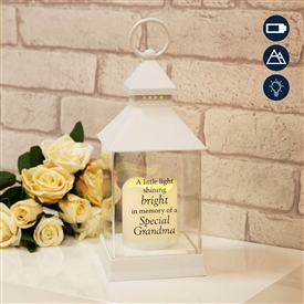 Thoughts Of You Graveside LED Lantern Grandma 27cm