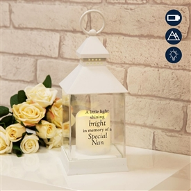 Thoughts Of You Graveside LED Lantern Nan 27cm