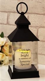 Thoughts Of You Graveside LED Lantern Someone Special 27cm