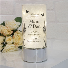 Thoughts Of You Light Tube Mum And Dad 20cm