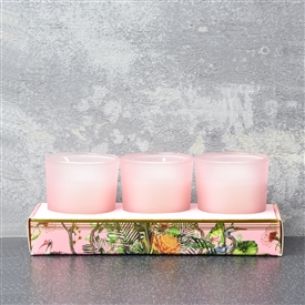 Oriental Flower Set Of 3 Candles