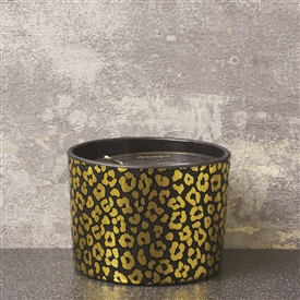 2 Wick Candle Pot With Leopard Spots