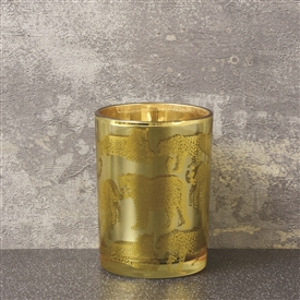 Round Gold Candle Pot 11cm