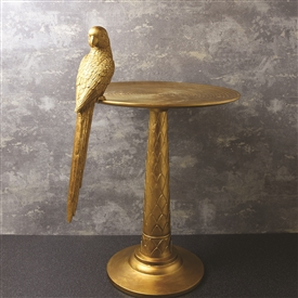 Gold Parrot Antique Table 52cm