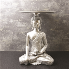Silver Buddha Antique Table 52cm