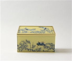 Oriental Heron Design Glass Jewellery Box 15cm