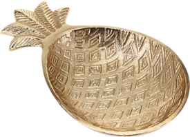 Gold Pineapple Bowl 20cm