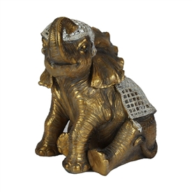 Extra Large Sitting Elephant 44cm