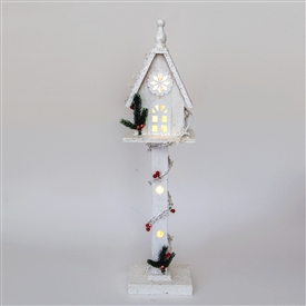 White Wooden Tree House 70cm