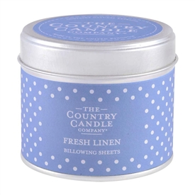 Polka Dot Candle in Tin - Fresh Linen