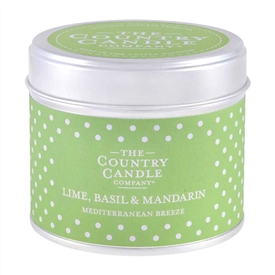 Polka Dot Candle in Tin - Lime Basil & Mandarin