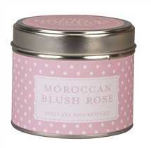 Polka Dot Candle in Tin - Moroccan Blush Rose
