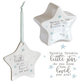 Star Money Box & Plaque Gift Set � Twinkle Twin