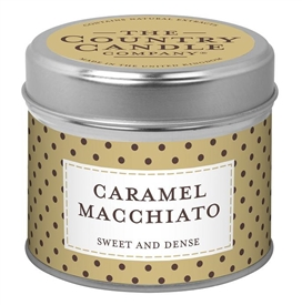Polka Dot Candle in Tin - Caramel Macchiato