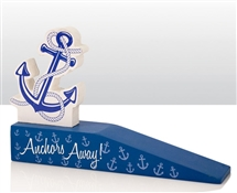 Anchors Away Wooden Door Stop