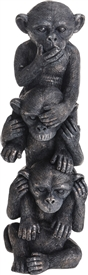 3 Wise Monkeys Black