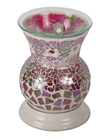 Electric Oil Warmer Round Pink/Purple Mosaic