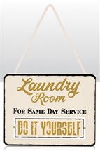 Laundry Rotating Sign