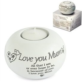 Said With Sentiment Love You Mum T Light Holder