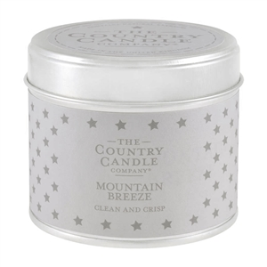 Stars Candle in Tin - Mountain Breeze