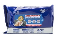 Pack of 50 Hand Sanitising Wipes