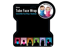 Tube Face Wrap Head Wear 6 Assorted