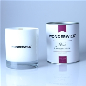 Wonderwick Glass Candle - Black Pomegranate