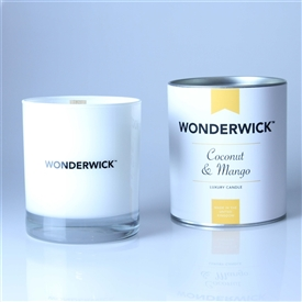 Wonderwick Glass Candle - Coconut & Mango