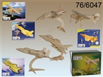 3D Wooden 'Air Planes' Puzzle - 4 Assorted