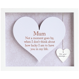 Said With Sentiment White Mum Heart Frame