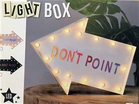 Arrow Shaped Light Box With Magnetic Letters 30cm